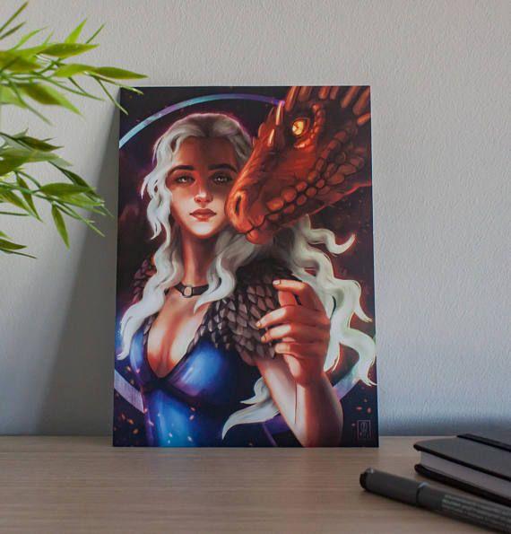 Daenerys Game of Thrones  Art Print A5/A3  TV Series