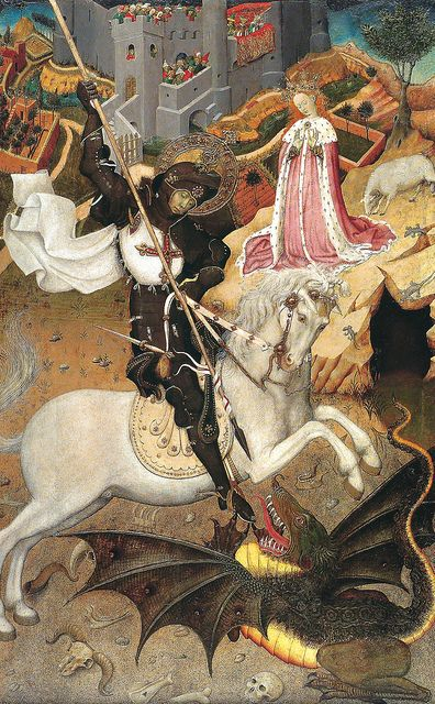 Bernat Martorell - Saint George Killing the Dragon, 1435 - Late Gothic Art