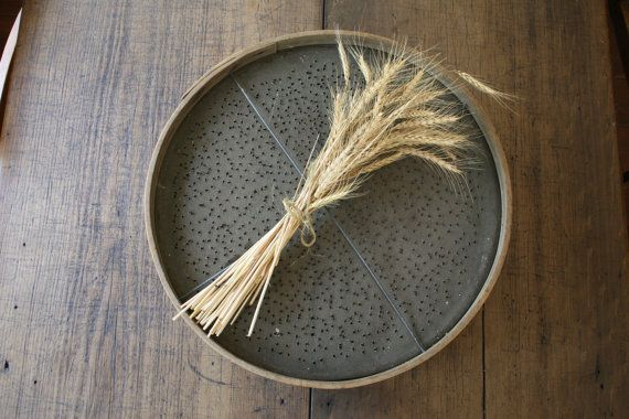 Vintage Rustic Garden Sieve by FoundByHer on Etsy