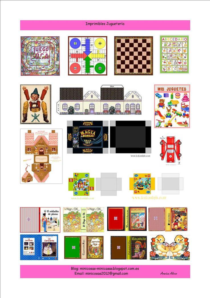 imprimible escala 1.12 tema infantil, juguetes, libros...