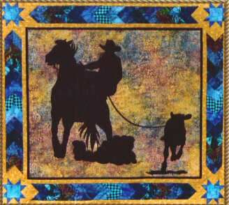 Cowboy Quilt Patterns | ... Calf Roping Quilt Pattern by June Jaeger for Prairie Girl Quilt Shop
