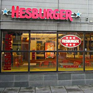 Hesburger, Finland, Baltics, Russia, and Germany  Hesburger is Finland's largest food chain, with 240 locations. The chain also has 80 locations in the Baltic countries, four in Russia, and three in Germany. The menu contains typical fast-food fare: burgers, fries, salads, ice cream, and milkshakes.