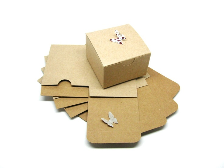 Eco Friendly 3x3x2 Natural Brown Kraft Gift Box, Favor Box - Set of 20. $6.00, via Etsy.