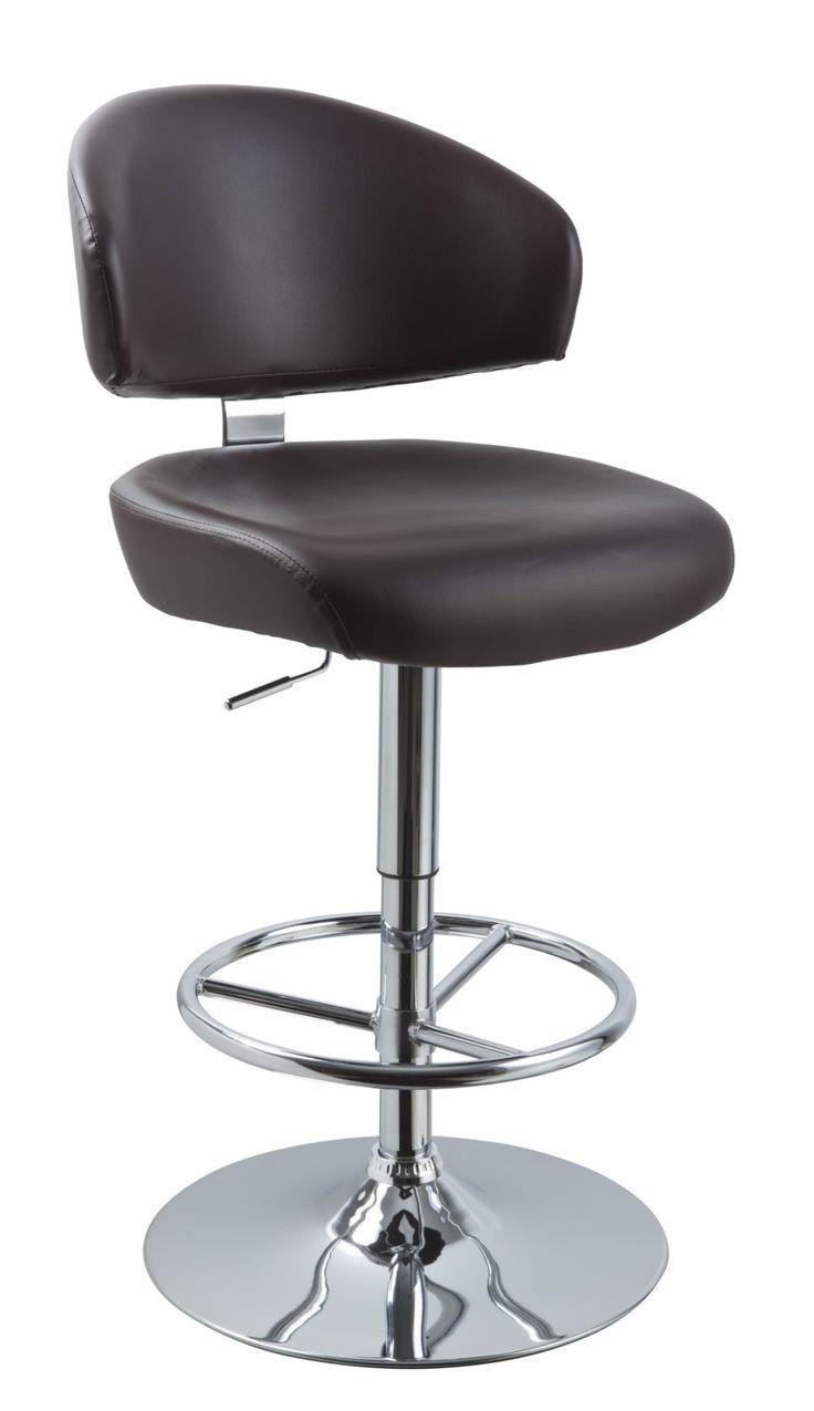 Vig Furniture - T1034 - Eco-Leather Contemporary Bar Stool - VGCBT1034N-BRN