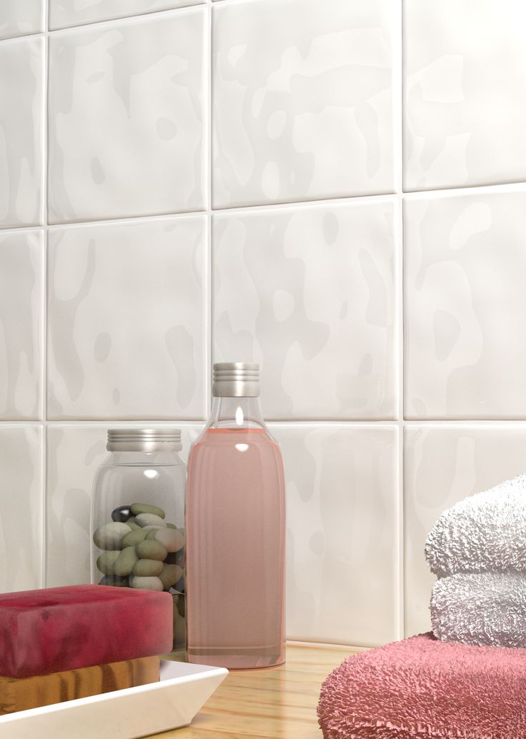 Add Texture To Walls : Add texture to white walls with glossy bumpy tiles