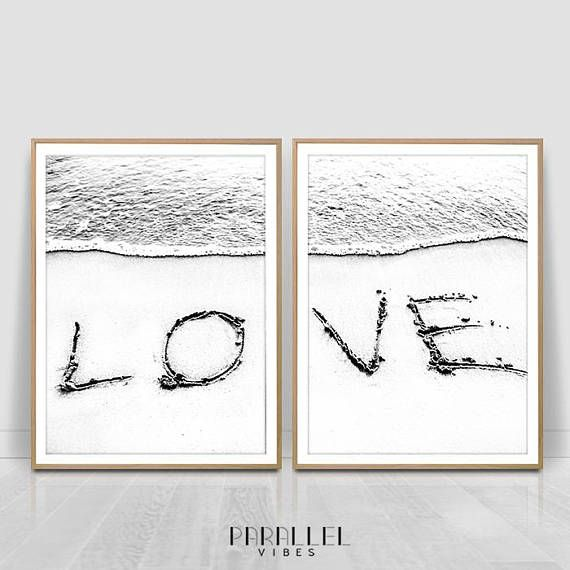 Check out this item in my Etsy shop https://www.etsy.com/listing/553106120/love-word-on-sand-set-of-2-printsocean
