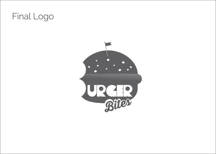 Logo Design for Burger Bites, a burger delivery place.