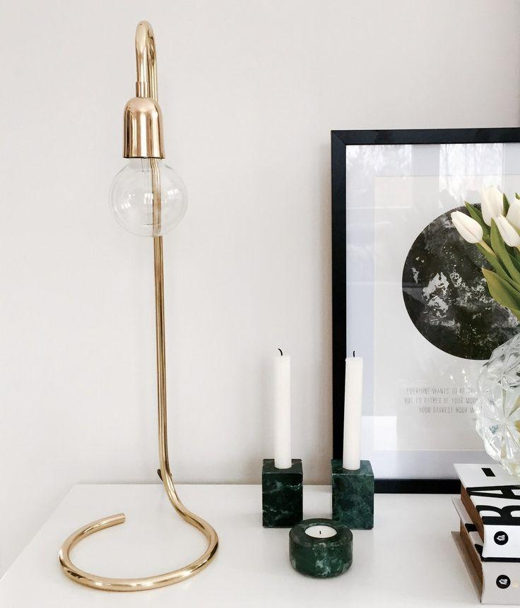 Lampa i blank mässing via Detaljfabriken. Click on the image to see more!