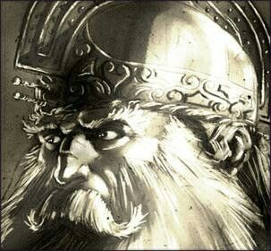 Fergus mac Roich was part of the Ulster cycle.Conchobar tricked Fergus out of his kingship and thus,not only became a ally and lover  to Conchobar enemy queen Medb.Furgus was the owner of the magical sword Caladbolg.It  capable of cutting not only army's in one swoop,but to also cut mountain top off