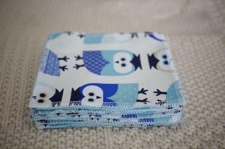 Lot de 10 Lingettes Lavables démaquillantes ou pour le change de bébé : Puériculture par lilybellule-couches-lavables