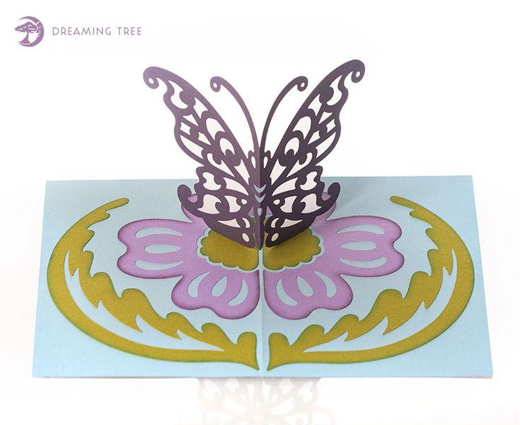 Butterfly pop up card svg birthday card pop up pop up
