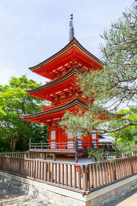 Part of Kiyomizu-dera Temple. Kyoto, Japan