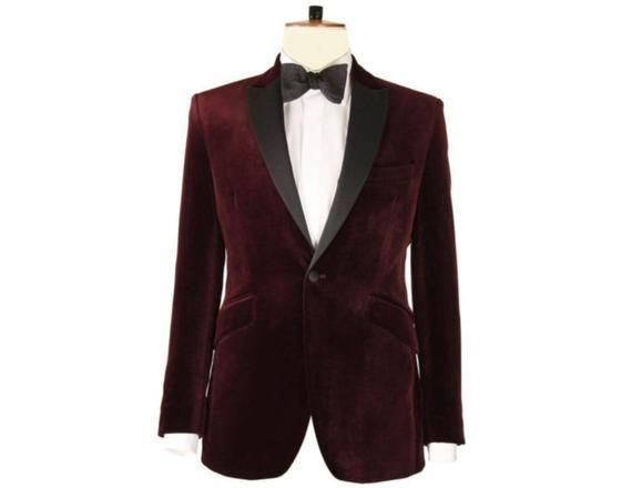 Men Elegant Luxury Grey Velvet Tuxedo Jacket Groom Dinner Party Wear Blazers
