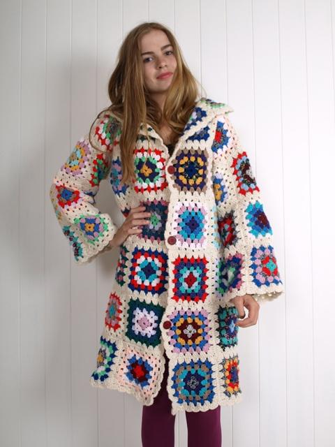 crochet granny square coat... hmm...