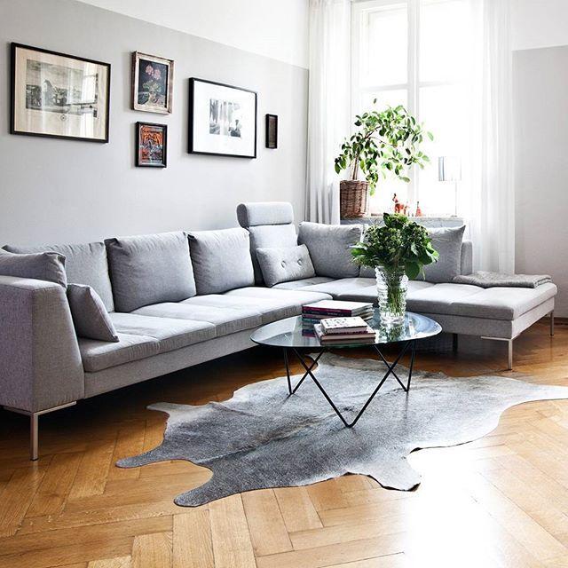 kleines wohnzimmer einrichten akzentwand wohnmöbel retro stil