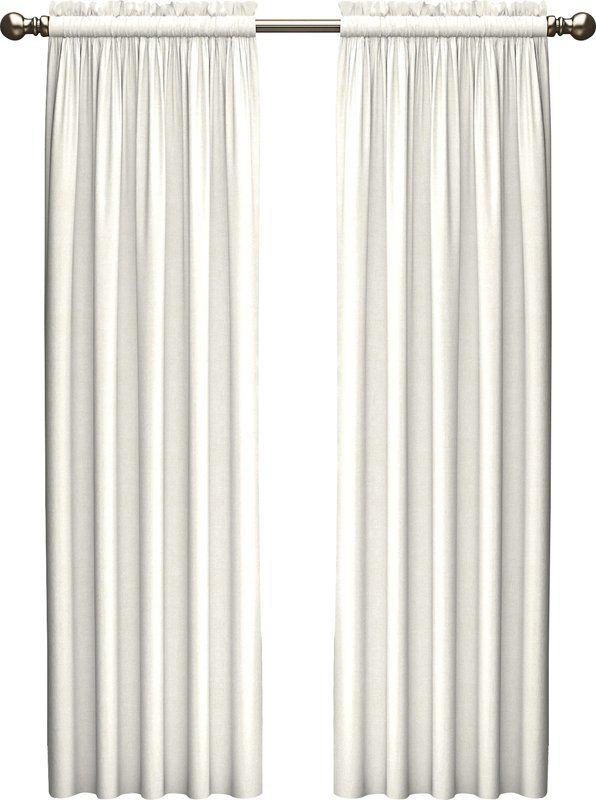 Kenda Solid Room Darkening Rod Pocket Curtain Panels