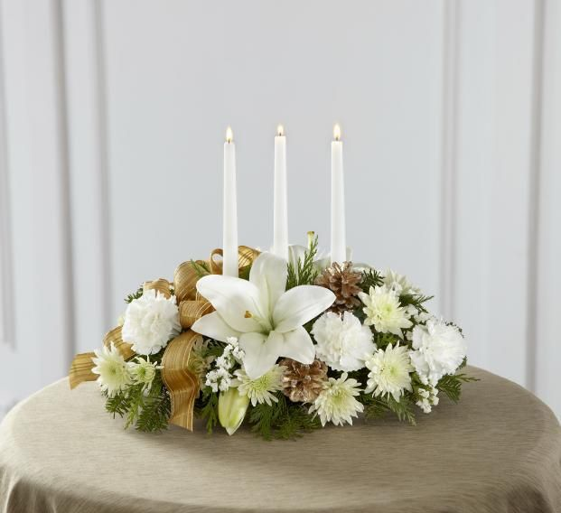 Ftd season s glow centerpiece christmas flowers