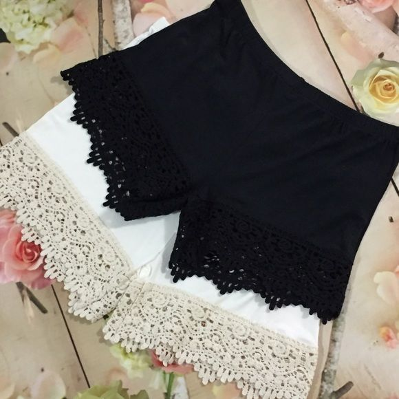 """Just In!! Lace Shorts Extenders Super soft short extenders featuring crochet lace trim and elastic waistband. Wear them under shorts, a skort, or a romper and add a little length and a lot of flair. They're so comfy you can even wear them to sleep! Price: $34.00 coming in XS in Black and Small, Medium Large in cream. BODY: 95% Rayon, 5% Elastane LACE: 100% Cotton XS 3"""" INSEAM, FITS 00-2 S 3.5"""" INSEAM, FITS 2-4 M 4"""" INSEAM, FITS 6-8 L 4.5"""" INSEAM, FITS 10-12 Naturally Spiritual Boutique…"""