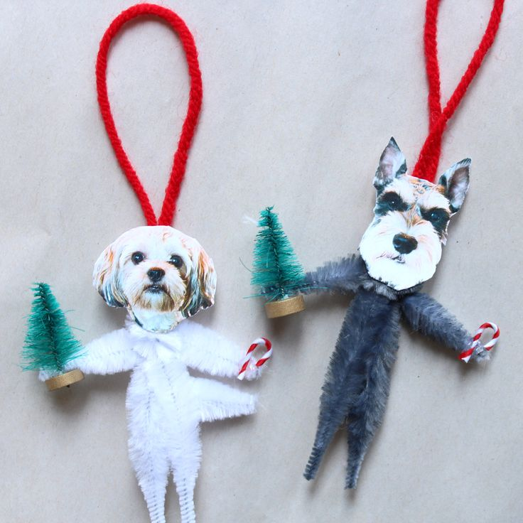 Make Your Own Hilarious DIY Dog Ornaments | The Barkpost @Michelle Flynn {decorandthedog} how fun are these!