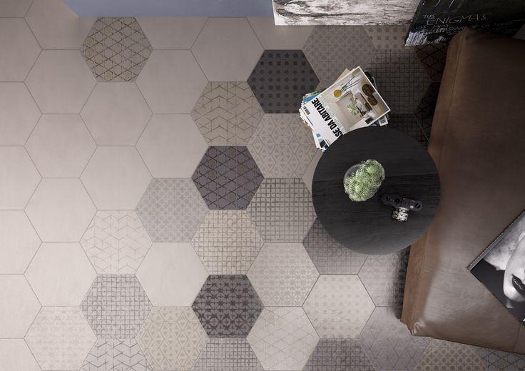 Hexagon vloertegels Imola LeTerre in verschillende decors