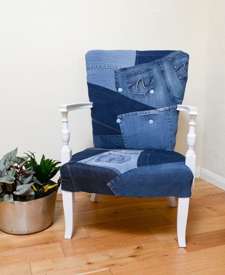 Denim Upcycled Bedroom Chair :http://vickymyerscreations.co.uk/denim/upcycled-bedroom-denim-chair/
