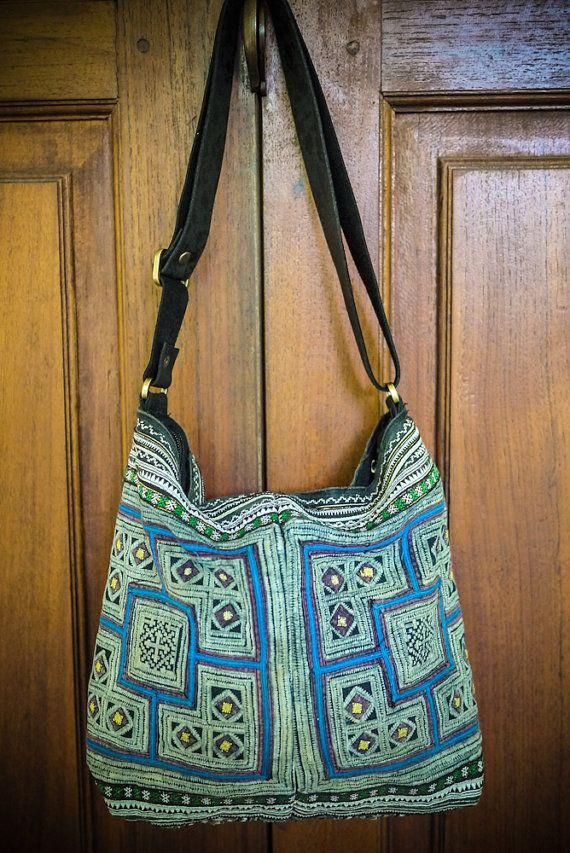 Mekong River Bag Vintage Hmong Batik