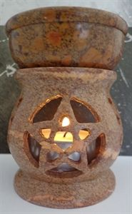 Pentagram oil burner.