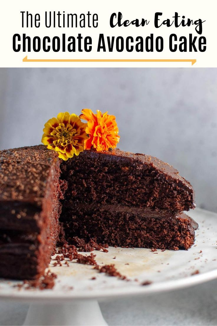 Chocolate Avocado Cake Recipe Clean Eating Chocolate Healthy