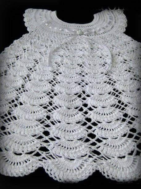Tina's handicraft : white kids dress