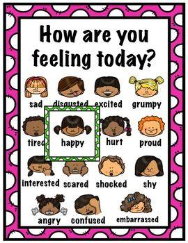 FREEBIE: How Are You Feelings Today? Feelings Chart