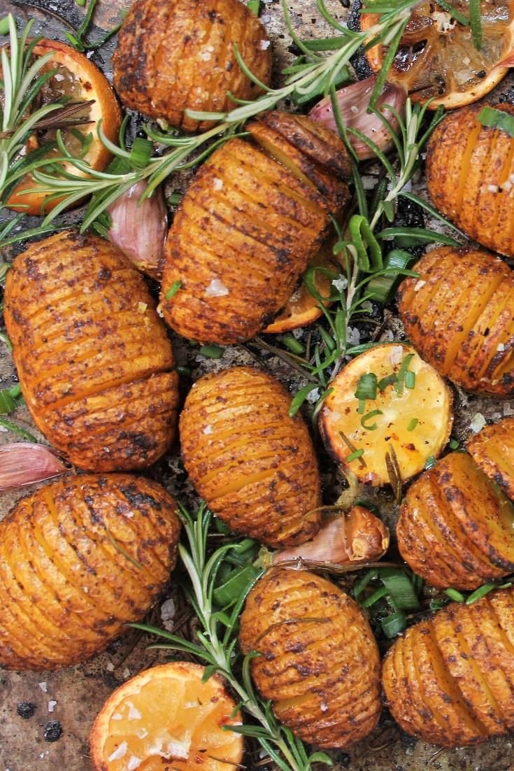 Spicy Hasselback potatoes