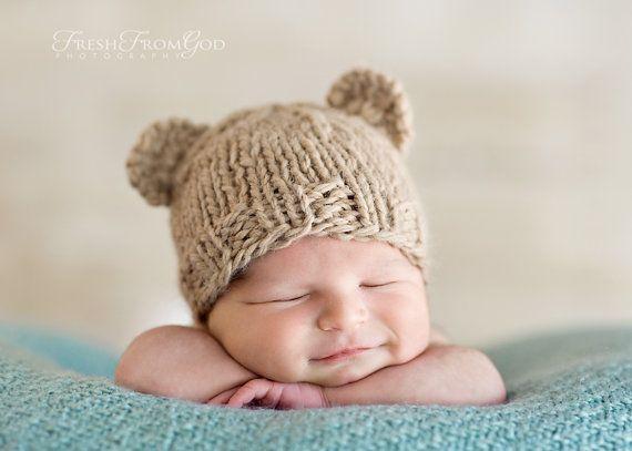 baby bear cutenessNewborns Photography Props, Bears Hats, Teddy Bears, Baby Bardot, Hats Projects, Newborns Pics, Baby Hats, Baby Photos, Baby Bears