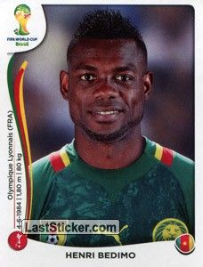 Henri Bedimo (born June 4, 1984; Doula, Cameroon) is a professional footballer.