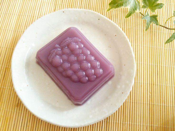 紫芋の水羊羹
