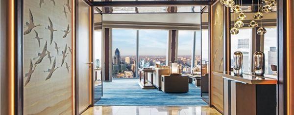 Westminster Suite, Accommodation in London   Shangri-La Hotel The Shard. Huge suite. Spectacular entrance!