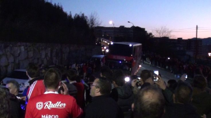 Benfica   Chegada ao Estádio do Braga