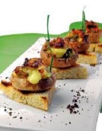 Hongos rellenos con jamón y queso al gratén - Recetas