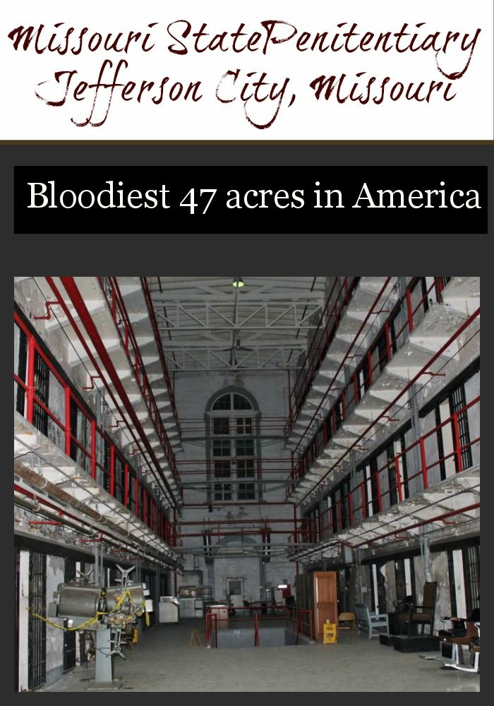 The Bloodiest 47 acres in America is in Jefferson City, Missouri - tour the Missouri State Penitentiary to learn the sometimes scary history of life behind prison doors.  #tmom #JCMO