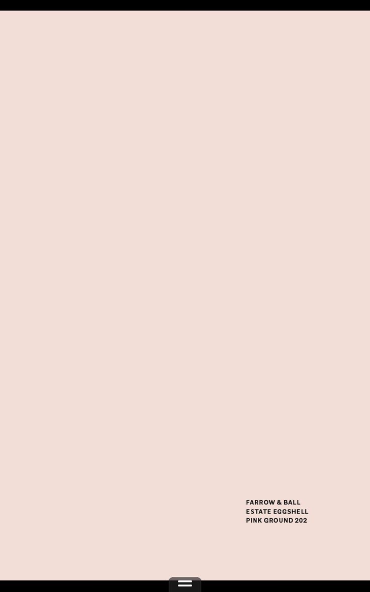 Farrow and Ball Estate Eggshell Pink Ground