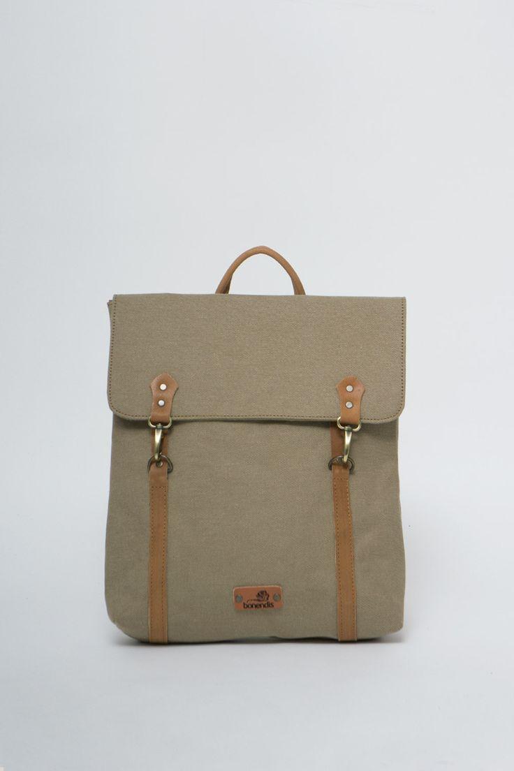 BONENDIS - LONDON OLIVE BACKPACK #bonendis #london #olive #backpack #vintage #handmade