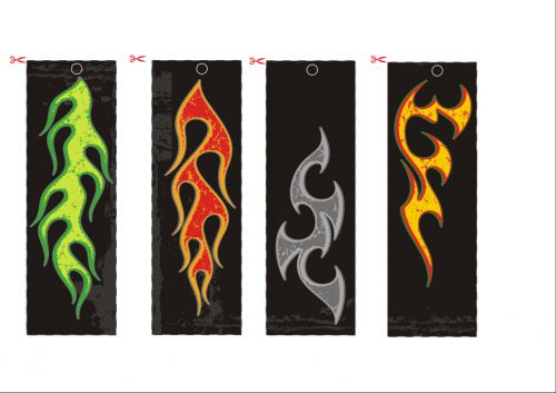 Flame bookmarks 4 boys kid activities and kid for Diy bookmarks for guys