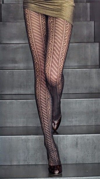 ♡ Fall Style - Black lace chevron tights panty hose - If you like my pins, please follow me and subscribe to my fashion channel on youtube! (It's free) Let me help u find all the things that u love from Pinterest! https://www.youtube.com/channel/UCCP8TXebOqQ_n_ouQfAfuXw