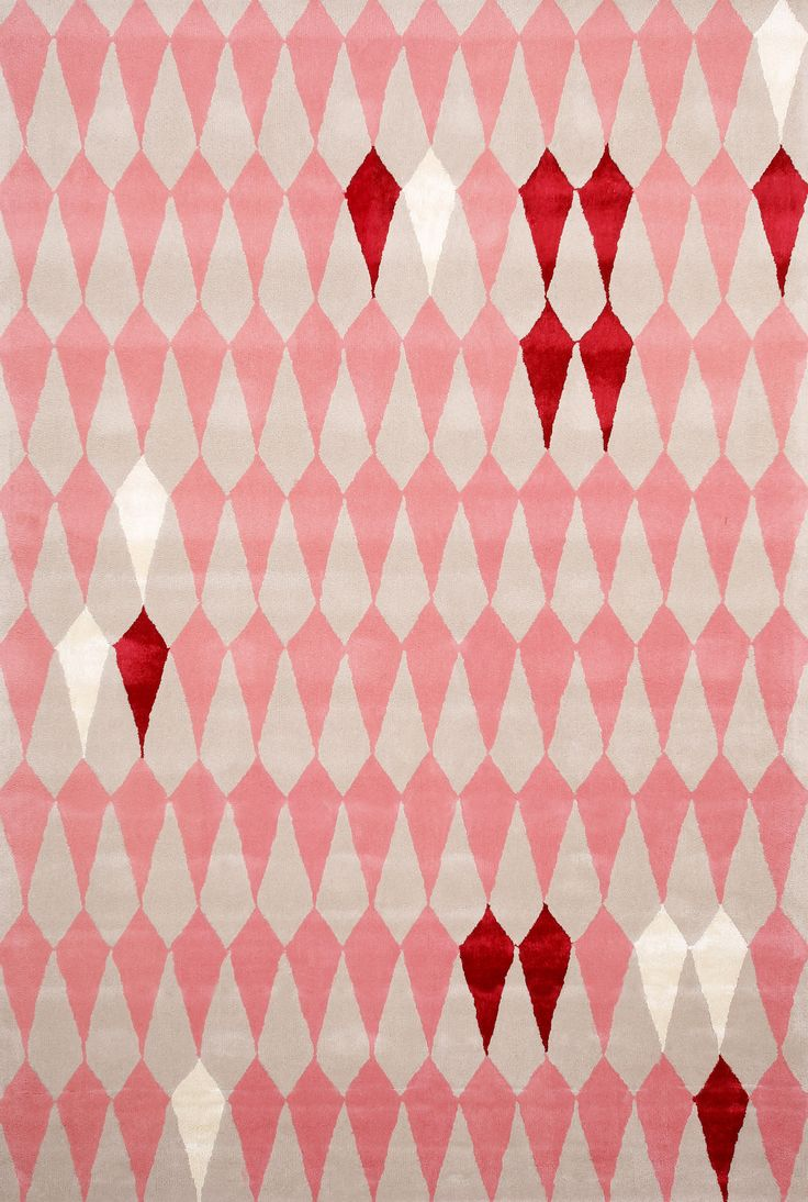 """""""Pear Melba"""" from our in-house collection has arrived - hand tufted 100% NZ wool #designerrugs #design #geometric #pink"""