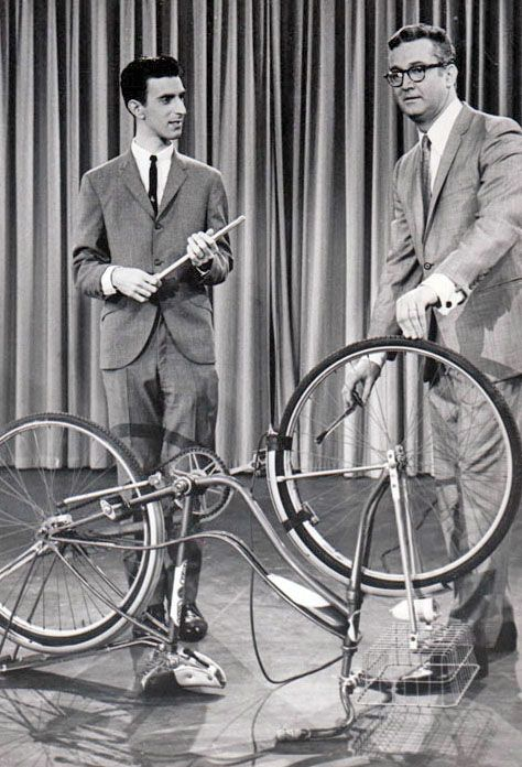 zappa plays the bicycle... - (frank)(steve allen)(musical instrument)