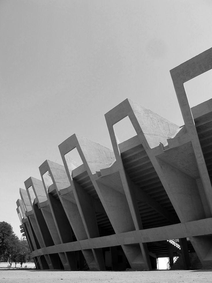 onsomething:  Charles Correa | Sardar Vallabhbhai Patel Stadium, 1965 Ahmedabad. Via 1