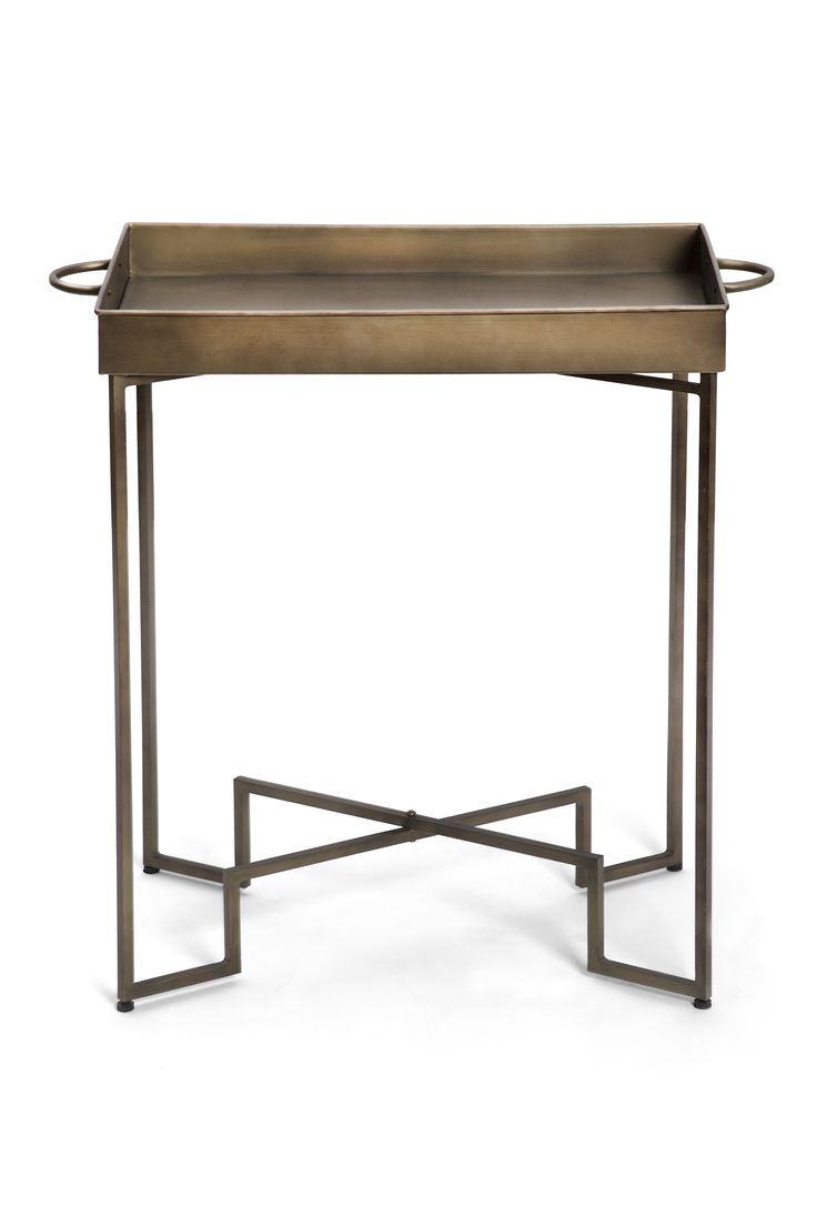 Slim round end table modern accent table with drawer calvin end table - Art Deco Metal Side Table 195 Within