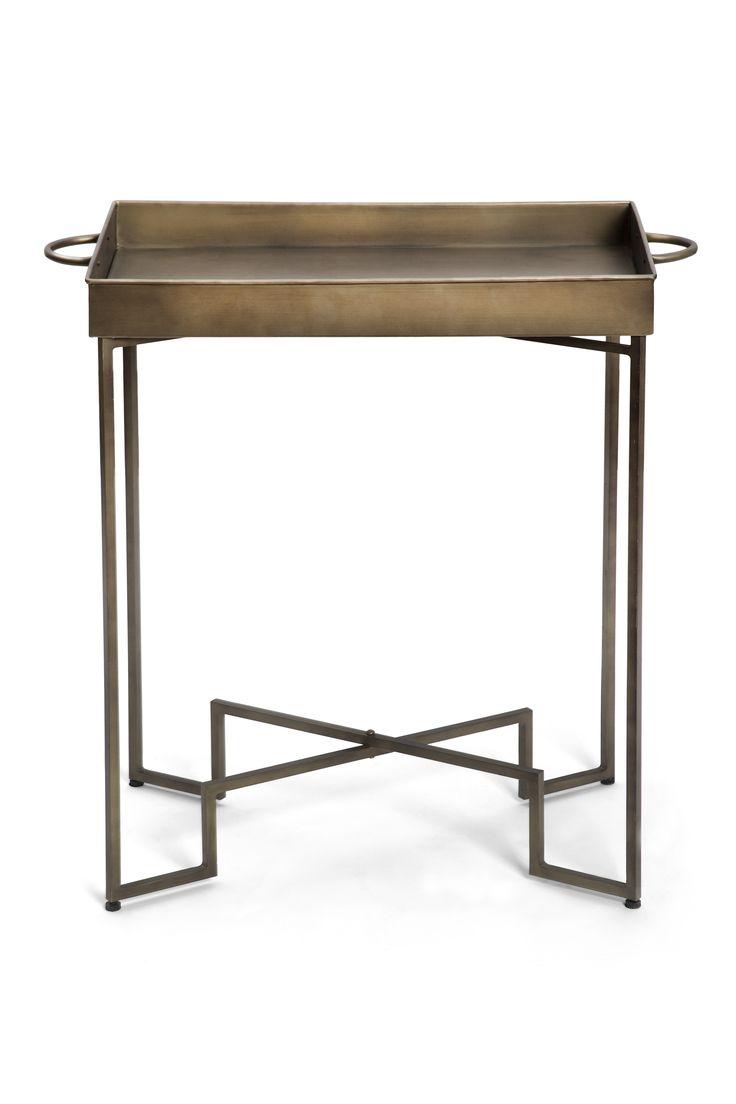 Scp lee kirkbride calvo side table walnut at amara - Art Deco Metal Side Table 195 Within