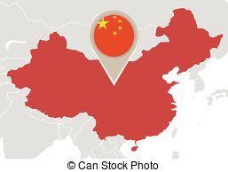 mapa,  China, mundo