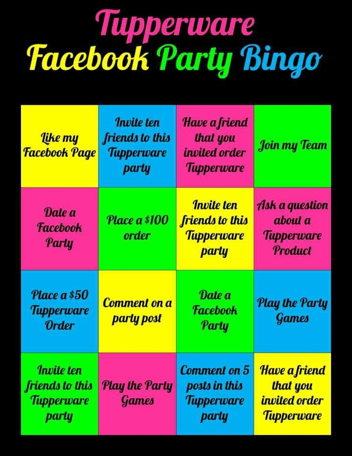 Party ideas tupperware games Party Game