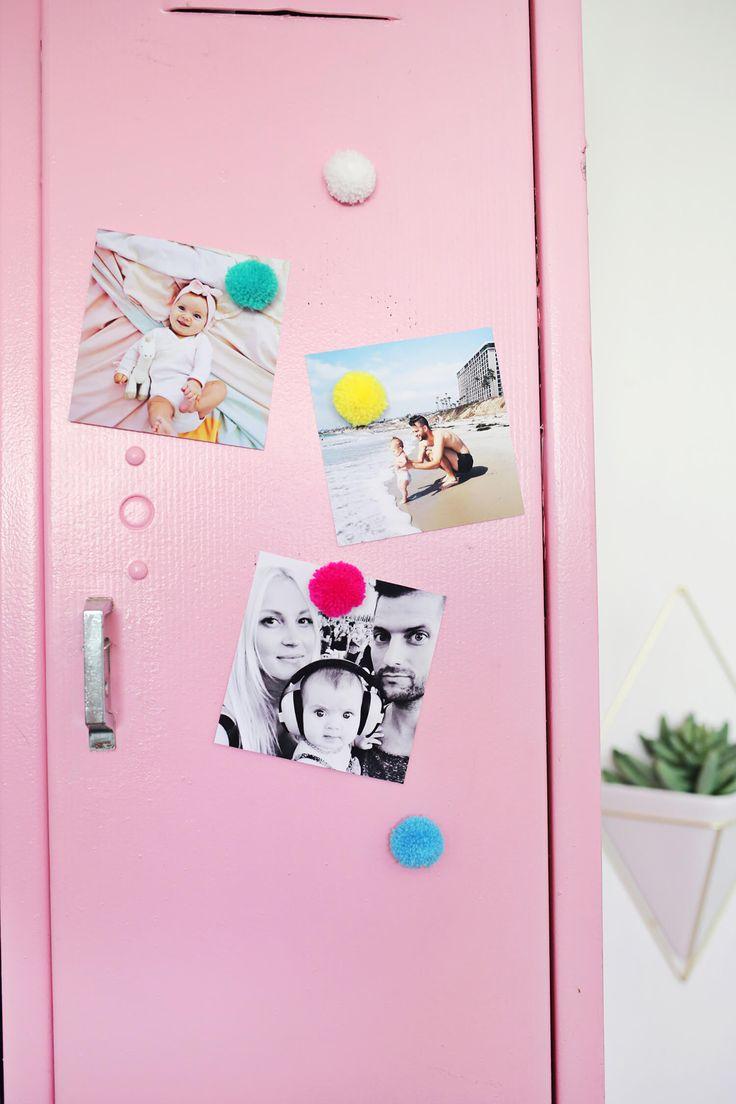 Pom Pom Magnets DIY – A Beautiful Mess